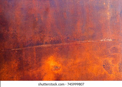 Rust on raw steel background