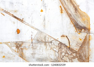 Rust stains on an iron surface, can be used as background