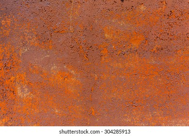 Rust of the wrecked ship