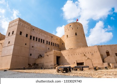 Rustaq Fort in Al Batinah Region, Sultanate of Oman. Located about 175 km to the southwest of Muscat, Omans capital