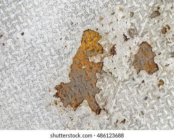 Rusted aluminium floor texture background