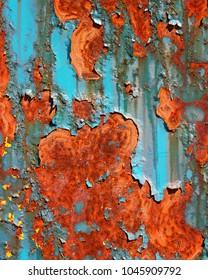 Rusted Blue Metal
