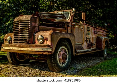 Rusted Classic Fire Truck