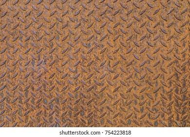Rusted diamond plate