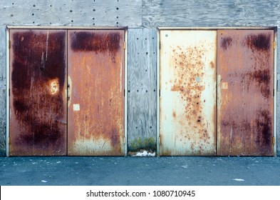 Rusted Doors of a Storage Shed