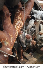 rusted engine parts