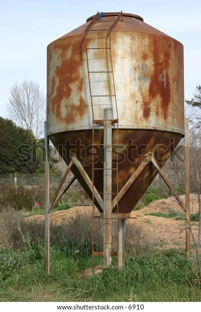 rusted irrigation tank