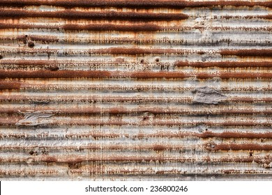 Rusted metal corrugated metal background
