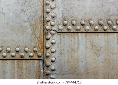 Rusted metal texture with rvets