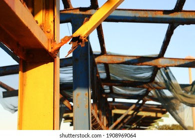 Rusted support structure (nature vs nurture)