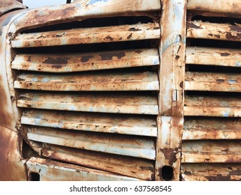 Rusted Vintage Truck Grill