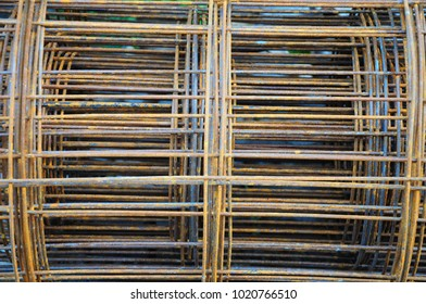 rusted wire mesh