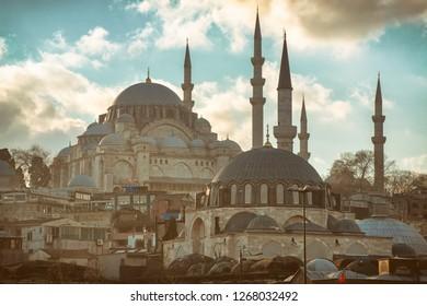 Rustem Pasa and Suleymaniye Mosque, Istanbul, Turkey