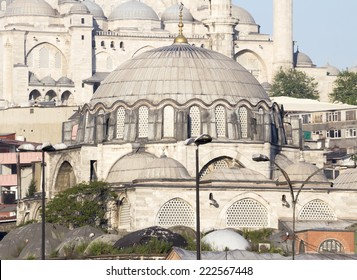 The Rustem Pasha Mosque close wiev.