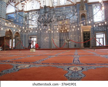 The Rustem Pasha Mosque was designed by Ottoman imperial architect Mimar Sinan for Grand Vizier Damat Rustem Pasha