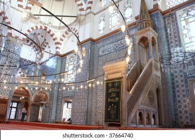 Rustem Pasha Mosque in istanbul,Turkey.