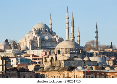 Rustem Pasha Mosque and Suleymaniye Mosque, Istanbul, Turkey