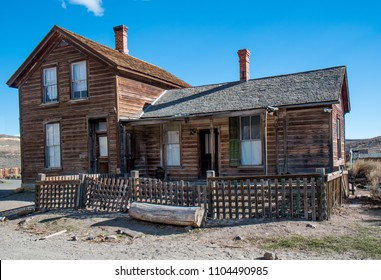 A rustic, abandoned homestead house in Bodie, California, USA