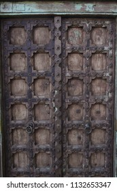 rustic antique door weathered wood Baja, Mexico