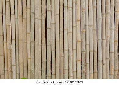 rustic bamboo facade