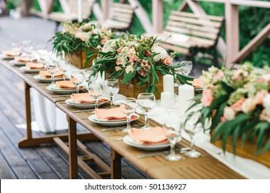 Rustic banquet
