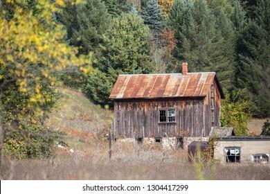 Rustic barn in Leelanau county near Traverse City, Michigan