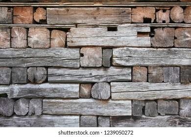 rustic blockhouse, detail