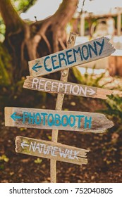 Wooden Wedding Direction Signs Images Stock Photos Vectors