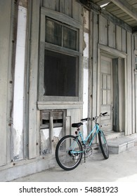 Rustic Building and Bicycle