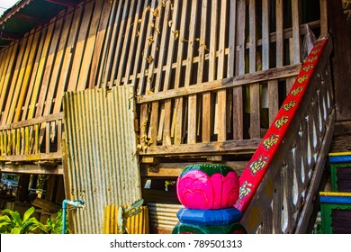Rustic Building on Thai Temple
