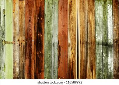 Rustic colored barn-wood