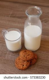 Rustic Cookies and Milk