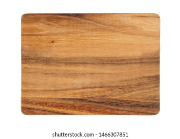 Rustic cutting board isolated on white background
