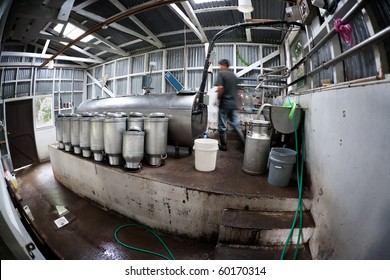 Rustic dairy operation in Costa Rica near Monteverde