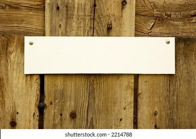Rustic Door Sign Horizontal