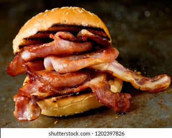 rustic english bacon butty sandwich