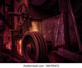 Rustic farm equipment