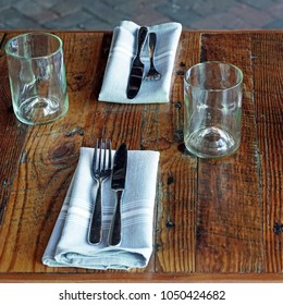 Rustic fine dining table setting