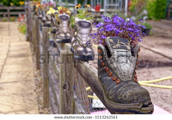 Rustic Garden Pots Rural Village Garden Stock Photo Edit Now