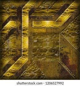 Rustic Golden Pattern Texture. Rustic mandala decor for floor tiles. Islam, Arabic, Indian, Mexican ottoman motifs. Hand drawn background. Mandala Mosaic, beige rustic mosaic, Floor tiles decor