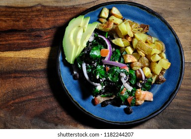Rustic Gourmet Dinner Organic Food Plant Based