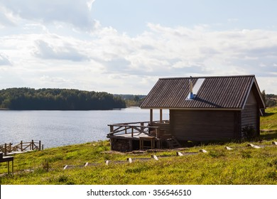 rustic house on the lake