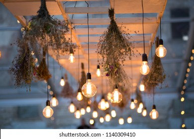 Rustic light bulb garden lights