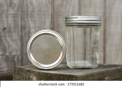 Rustic Mason Jars with Moonshine