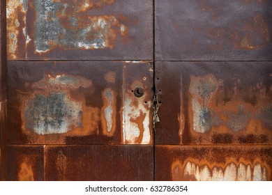 Rustic metal door
