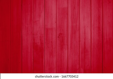 Rustic natural red wooden planks background texture