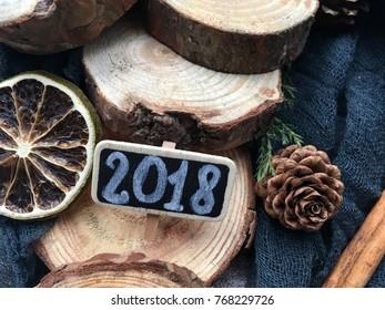 rustic new year 2018. natural 2018 wallpaper.