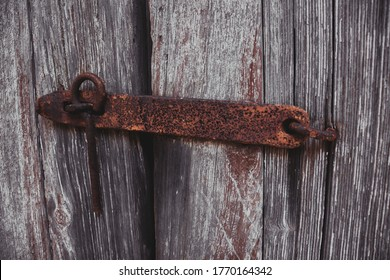 Rustic old barn door latch on an abandon farm near Westover Maryland Somerset County