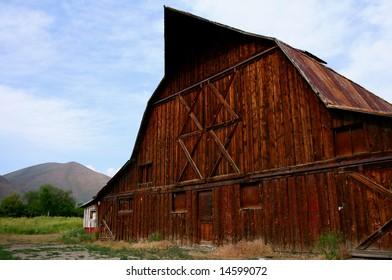 Rustic old barn located in Hailey Idaho