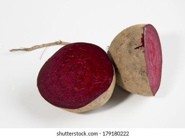 Rustic Organic Beetroot on White